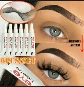 6 x tubes WHITE false strip strong Eyelash Glue Adhesive Clear Long Lasting