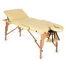 Table de massage Klarfit 210 cm 200 kg pliante mousse cellules fines - beige