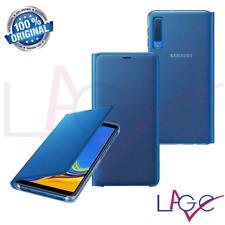Custodia per Samsung Galaxy A7 2018 A750 Flip Cover a Libro Blu Originale