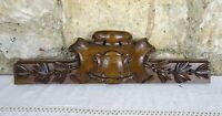"""17""""  Antique French Hand Carved Wood Solid Walnut Pediment"""
