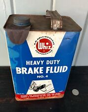 Rare WHIZ BRAKE FLUID 1gal.Can PEDAL TO THE METAL GRAPHIC!