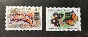 Christmas Island 1989 Melbourne Stamp Show Overprints set MUH AGj40