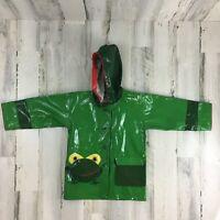Kidorable Green Frog Theme Rain Coat Raincoat Jacket Size 3T Kids Boys Girls
