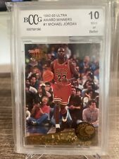 1992-93 Ultra Award Winners Michael Jordan #1 BCCG 10 Mint Or Better Stunner!!