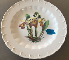 Price Copeland Spode UK Plate No 8 Cattleya Dowiana Var Chrysotoxum Orchid S3239