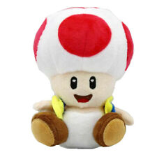 Toad Super Mario Bros Plush Mushroom Man Soft Toy Stuffed Animal Doll Figure 6""