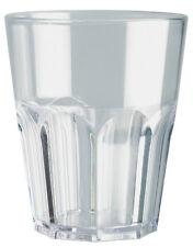 Piazza - Bicchiere in plastica trasparente 290 ml conf. 6 pezzi Clear glass