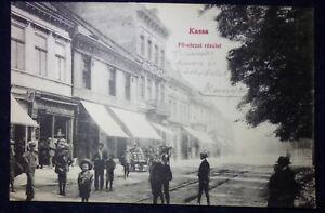 KASSA 1913, old postcard, Kosice, Slovakia, Hungary
