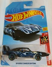 2019 Hot Wheels 1969 DODGE CHARGER DAYTONA 31/250 ~ 1/10 HW FLAMES [Black] - NIB