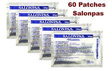 Lot de 60 Patchs = 5  Paquets x1 2 SALONPAS : Soulagement Douleurs  Dos, Muscles