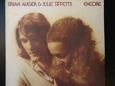 """BRIAN AUGER & JULIE TIPPETTS  """"ENCORE"""" 33 RPM Vinyl LP Record 1978 rock music EX"""