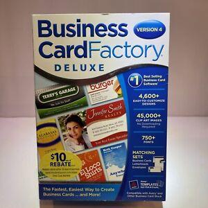 Nova Development Business Card Factory Deluxe Software Version 4 Brand New
