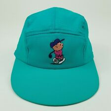 VTG Charlie Brown Peanuts 5 Panel Golf Hat Stretch Back USA Baseball Cap NOS