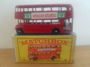 Matchbox Lesney Series No 5 London Bus BP Visco Static Original-Box
