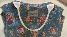 CORA TAYLOR  LONDON - FLORAL GREEN ROSE BAG - HANDBAG IN PERFECT CONDITION