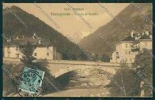 Verbania Vall'Anzasca Pontegrande Bannio cartolina QQ5660