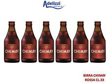 6 Bottiglie BIRRA CHIMAY TAPPO RED CL. 33 Trappista Belga Doppio Malto Rossa 7°