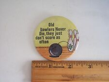 Bowlers Novelty Badge, Manufactured by Badge a Mint