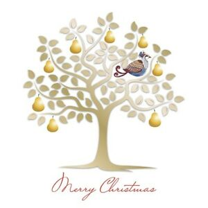 Rowans Hospice Charity Christmas Cards - Gold Pear & Blue Pear Twin Pack