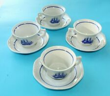 Vintage 8 Pc. Wedgwood American Clipper Game Cock 1850 Cup & Saucer Never Used