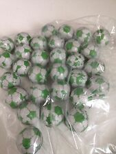 30 chocolate Green /white footballs /retro sweets wedding / party bags