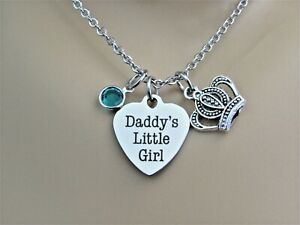 Daddy's Little Girl Heart Necklace, Gift for Daughter, Daughter Birthday