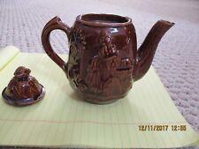 Rockingham Bennington Glazed Teapot(Rebeccah at the Well)