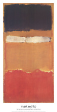 Untitled by Mark Rothko Art Print Brown Gold Yellow Orange Poster 49x25