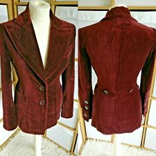Zara Stunning Blazer Velvet Deep Pockets Collar Steampunk Goth UK 10 EU 36