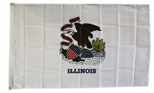 Illinois State Flag 3 x 5 Foot Flag - New 3x5 Indoor Or Outdoor