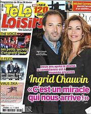 TELE LOISIRS N°1564 20 FEVRIER 2016  CHAUVIN/ X-FILES/ FORESTI/ THE VOICE/ PLAZA