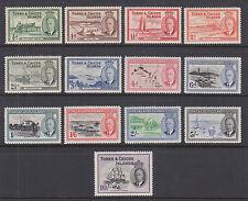 Turks & Caicos Sc 105-117 MNH. 1950 KGVI Pictorials, complete set, VF