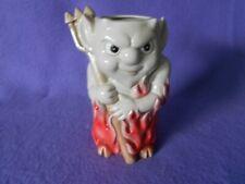 Cute sly devil wooden fireplace match holder Fitz Floyd 1980