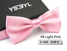 New Mens Wedding Bridegroom Ties Formal Business Prom Bow Tie Necktie Light Pink