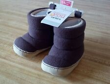 CARTER'S Just One You Baby Soft Fleece Boots Shoes Size 0-6 Months Infant Warm!