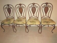 BRONZE WROUGHT IRON SIDE DINING CHAIRS Set of Four  Shipping not Included
