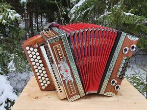 Steirische Harmonika G C F Strasser Classic mit Koffer & Riemen