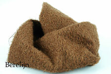 "Mohair Fat 1/4 yard 1/2"" sparse  curly  felted milk chocolate brown H9"