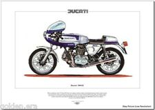 Ducati 900SS Moto IMPRIMÉ BEAUX-ARTS - Isle of Man