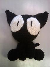 "Handmade Amigurumi Crochet Takkun Kitty from Flcl anime Cat 8"" cute plush doll"