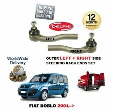 FOR FIAT DOBLO & CARGO + VAN 2001->NEW 2 x OUTER LEFT + RIGHT TIE TRACK ROD END