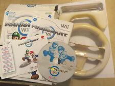 NINTENDO Wii RACE GAME SUPER MARIO KART MARIOKART TESTED COMPLETE +2 WHEELS