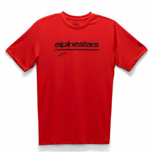 Alpinestars Tech Line Up Fashionable Casual Wear Performance T-Shirt Red