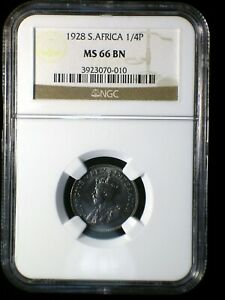 Union of South Africa 1923 1/4 Penny *NGC MS-66* Farthing Only 3 Graded Higher