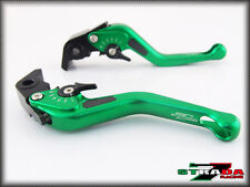 Strada 7 CNC Short Carbon Fiber Levers KTM 1190 Adventure / R 2013 - 2014 Green