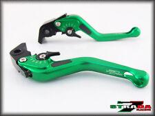 Strada 7 CNC Short Carbon Fiber Levers KTM 1190 Adventure / R 2013 - 2014 Green