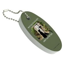 Nature is Calling I Must Go Outhouse Floating Foam Keychain Fishing Boat Buoy
