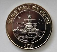 NEW 2015 ROYAL MINT UK TWO POUND £2 COIN First World War Centenary ROYAL NAVY BU
