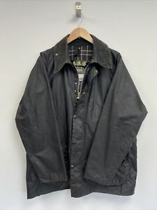 Barbour Bedale Wax Cotton Jacket In Navy Blue Size Large C44 Men's Vintage Coat