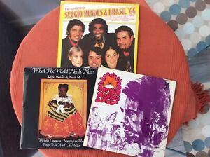JOB LOT of 3 x SERGIO MENDES & BRASIL '66 LPs Mas Que Nada * Norwegian Wood